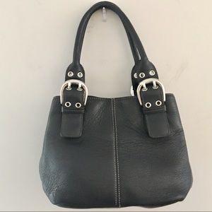 Tignanello small leather handbag. Black